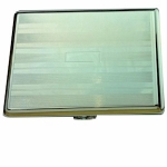 Silver Lined Double Cigarette Case
