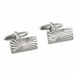 Silver Lines Cufflinks