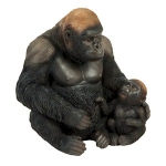 Silverback Gorilla and Baby Ornament