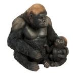 Silverback Gorilla and Baby Ornament