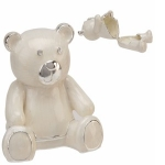 Silverplated Teddy Keepsake Box