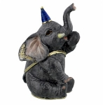 Sitting Circus Elephant Trinket Box
