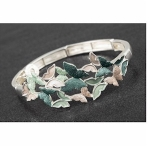 Slim Green Butterflies Stretch Bracelet