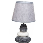 Small Ceramic Grey Pebble Table Bedside Lamp