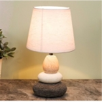 Small Ceramic Pebble Table Bedside Lamp