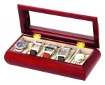 Small Cherry Wood  Five Watch Box