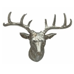 Small Silver Stag Head Wall Decoration