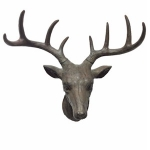 Small Brown Stag Head Wall Decoration