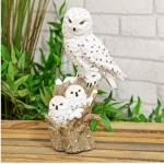Snowy Owl and Owlets Ornament