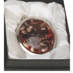 Sophia Red Compact Mirror