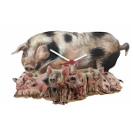 Sow and Piglets Wall Clock
