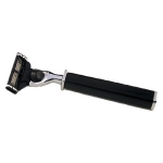 Single Square Handled Razor in Black