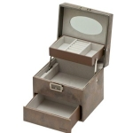 Stardust Small Lockable Auto Tray Jewellery Box