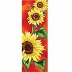 Sunflowers in the Sun Rectangular Tile