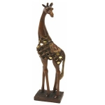 Tall Wooden Effect Giraffe Ornament