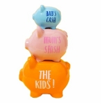 The Kids Triple Stacked Piggy Bank