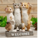 Three Kittens Welcome Ornament