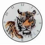 Tiger Glass Wall Clock