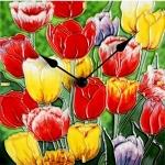Tulip Montage Wall/Desk Clock