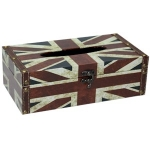 Union Jack Rectangular Wooden Tissue Box