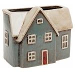 Village Pottery Blue House Plant Pot
