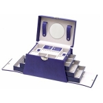 Violet Purple Hour Glass Shaped Lockable Jewellery Box