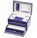 Violet Purple Rectangular Lockable Jewellery Box