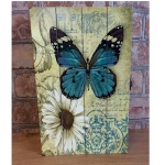 Shabby Chic Butterfly and White Flower Rectangular Key Box
