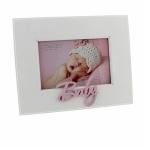 White Baby Girl Pink Photo Frame