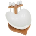 White Bamboo Heart Olive Set