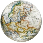 White Cartography Paperweight