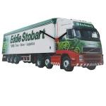 White Eddie Stobart Truck Wall Clock