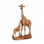 Wood Effect Giraffe and Baby Ornament