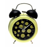 Yellow Novelty Double Bell Alarm Clock